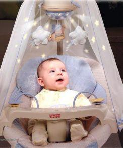 Детские качели Fisher Price Starlight (Сияние звезд, Звездное небо)