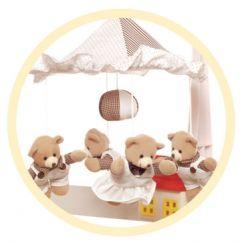 Музыкальная подвеска «Canpol» «Бурые медведи с домиком» (Польша)