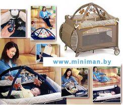 """Детский манеж - кровать 2в1 """"Chicco Lullaby Top Travel"""" с д/у"""