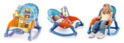 Шезлонг с подвесными игрушками Fisher-Price 2 в 1