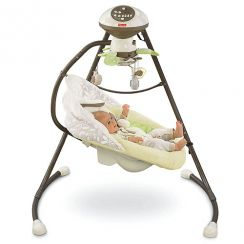 Детские качели Fisher Price Кролик (My Little Snugabunny Cradle 'n Swing)